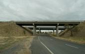 concrete freeway bridge