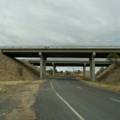 concrete freeway bridge